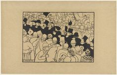 Félix Vallotton, Parading Through the Streets in Single File (Le Monôme) from the series Paris Intense, 1893 lithograph