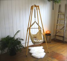 A Natures Sway Baby Hammock Shown In Use With The Door