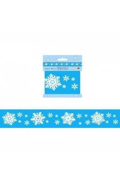 Snowflake Party Tape Banner - Christmas & Winter Decorations