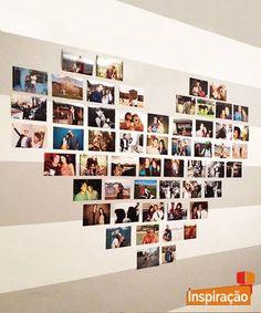 Além dos looks, introduza um toque de romantismos na #decoração. Você pode decorar uma parede com fotos que marcaram momentos especiais. Que tal? #Inspiração #Amor #Decoração