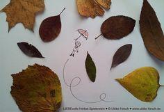 """""""Herbstflug"""" http://www.ulrike-hirsch.de/liebevolle-herbst-spielereien/"""