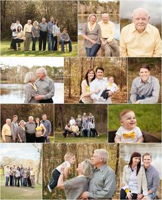Large Family Session Poses, Large Group Posing, Multi-Family Portrait Session…