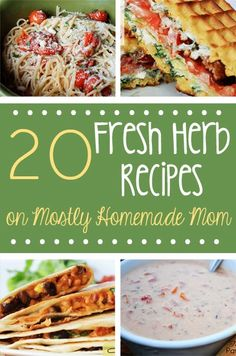 Mostly Homemade Mom: 20 Fresh Herb Recipes, great for your spring gardens!