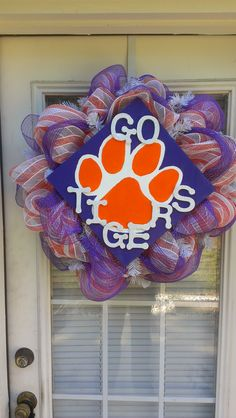Clemson Wreath #aspenheights #décor... would look better in UK