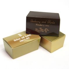 You Design It Petite Ballotin Boxes, Personalized with your choice of design and text, the perfect favor box! Wedding Gift Tags, Custom Wedding Gifts, Wedding Favors, Wedding Decorations, Wedding Sweepstakes, Thanksgiving Gifts, Personalized Wedding Gifts, Party Supplies, Stationery