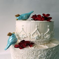 awesome The Unique Décor of Love Bird Wedding Cake Toppers Check more at http://jharlowweddingplanning.com/the-unique-decor-of-love-bird-wedding-cake-toppers