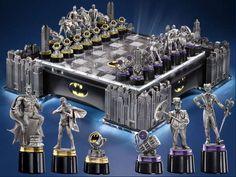 Illuminated Luxury Batman Chess Set