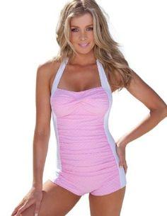 b1e7b98a121 Amazon.com: Sheridyn Swim - Marylin boyleg one piece swimsuit: Clothing  Summer Swimwear