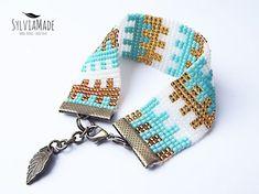 Znaleźliśmy dla Ciebie kilka nowych Pinów na tabli... - WP Poczta Loom Bracelet Patterns, Bead Loom Bracelets, Bead Loom Patterns, Beading Patterns, Seed Bead Jewelry, Bead Jewellery, Beaded Jewelry, Bead Crafts, Jewelry Crafts