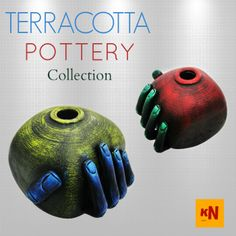 Check Out!! Terracotta Pottery Collection.  The Limit is Your Imagination. #Handicrafts #Pottery #Homedecor #kraftnation #art #store #shopping