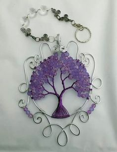 Large sun catching trees. Can be made in any colour you wish. Made with glass beads so the sun shines through.