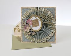 Pleated Circle by Gaila's Paper Crafts from Ana Griffin Haven Paper Collection