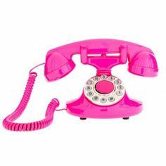 Produit : ALLO - Téléphone Retro A Touches Avec Raccordement Thème : Go, go, go cadeaux Ajouté à la liste de nathalie via 35ansFly.fr