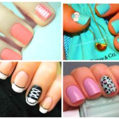 4 of my favorite nail styles!!(: