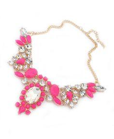 Bohemian Diamante Short  #necklace #statement #jewelry #pink #fashion #rhinestones #retro #wishlist