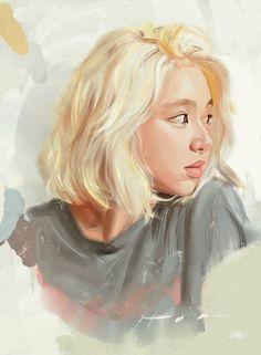 Check out Twice @ Iomoio Twice Fanart, Drawn Art, Chaeyoung Twice, Kpop Drawings, Digital Portrait, Kpop Fanart, One In A Million, Cute Art, Art Girl