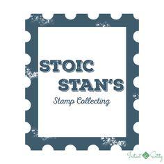 Stamp Collector/Collecting Pre Made Logo Design | Blue | Grunge | Rust | Premade Vintage Logo | Worn Logo