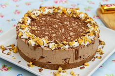 Jane's Patisserie - No-Bake Crunchie Cheesecake Chocolate Malt, Chocolate Treats, Chocolate Heaven, No Bake Chocolate Cheesecake, Cheesecake Recipes, Ricotta Cheesecake, No Bake Desserts, Dessert Recipes, Healthy Eating Recipes