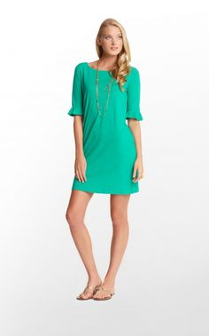 Somerset Dress in Emerald Green  Lily Pulitzer