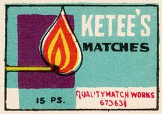 Ketee's #Matches #matchbox label To design & order your logo'd #matches GoTo: www.GetMatches.com Today!
