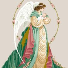 guardian angel (lavender and lace) Celtic Cross Stitch, Cross Stitch Fairy, Wedding Cross Stitch, Cross Stitch Angels, Cross Stitch Designs, Cross Stitch Patterns, Cross Stitching, Cross Stitch Embroidery, Sewing Art