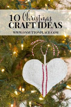 10 DIY Christmas Craft Ideas | Easy and fun! onsuttonplace.com