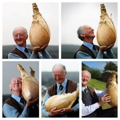 If youre in a bad mood look at how happy this man is with his giant onion...