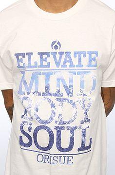 ORISUE The Mind Body Soul Tee in White : Karmaloop.com - Global Concrete Culture