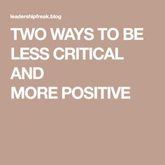 TWO WAYS TO BE LESS