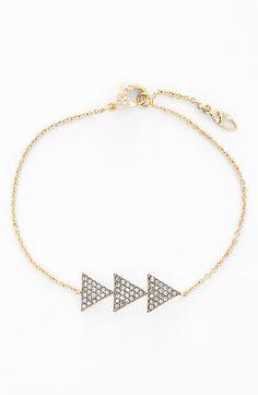 Such a dainty piece   Nadri Triangle station bracelet.