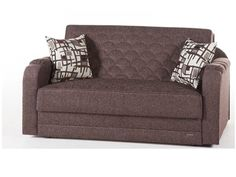 Verona Loveseat/Full Sleeper in Aristo Burgundy by Istikbal