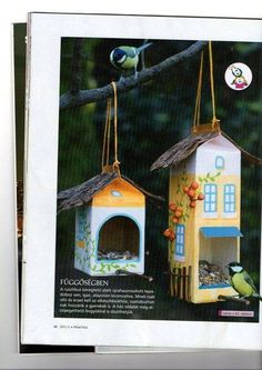Latest Absolutely Free bird house for kids Strategies You can find unlimited models of birdhouses available today, nevertheless really not every person is searched and beaut Projects For Kids, Diy For Kids, Crafts For Kids, Milk Carton Crafts, Bird Feeder Craft, Diy And Crafts, Arts And Crafts, Homemade Bird Feeders, Newspaper Crafts