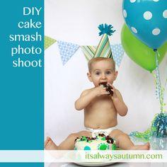 photograph: DIY Cake Smash - It's Always Autumn