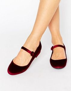 8e7e9b26d789b3 New Look Velvet Mary Jane. Cute ShoesRed ...