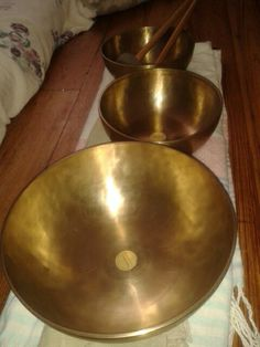 Peter Hess singing bowls. ..hand beaten over 30 hours in Nepal and India.