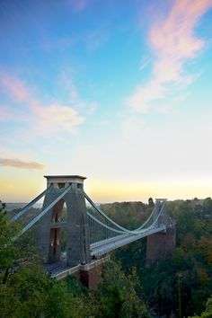 Clifton suspension Bridge in Bristol, UK