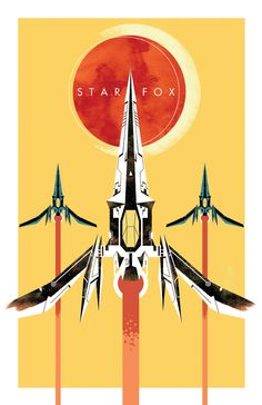 An interesting, more birdlike take on the Arwings – Star Fox by Curtis Tiegs, via Behance