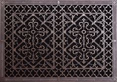 """Decorative Grille, Vent Cover, or Return Register. Made of Urethane Resin to fit over a 20""""x30"""" duct or opening. Total size of vent is 22""""x32""""x3/8"""", for wall and ceiling grilles (not for floor use). - - Amazon.com"""