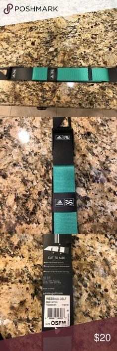 NWT adidas men's golf belt Brand new in package, adidas men's golf webbing belt. One size fits all-cut belt to fit your waist! adidas Accessories Belts