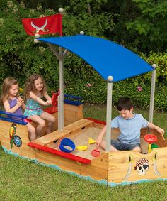 This Pirate Sand Boat by KidKraft is perfect! #zulilyfinds