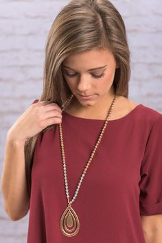 Living For Love Necklace, Gold