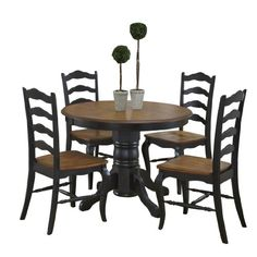 Home Styles 5519-308 The French Countryside 5-Piece Dining Set, Oak and Rubbed Black Home Styles http://www.amazon.com/dp/B00G12WIM4/ref=cm_sw_r_pi_dp_hahKvb04TP8MZ