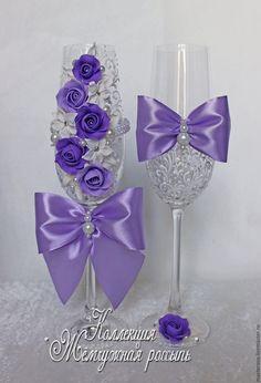 Купить Свадебные аксессуары Свадебные бокалы или заказать в интернет-магазине на Ярмарке Мастеров