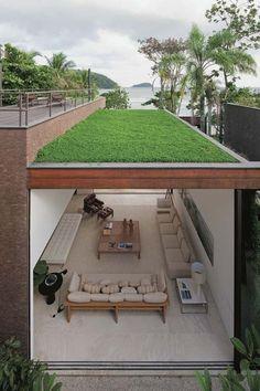 I love the idea of taking a nap on a grassy rooftop! Arthur Casas design
