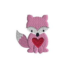 For Valentines Day or any day. Machine Embroidery Patterns, Embroidery Ideas, Cottage Crafts, Button Crafts, Foxes, Hello Kitty, Applique, Felt, Valentines