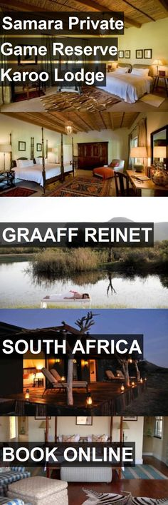 Hotel Samara Private Game Reserve Karoo Lodge in Graaff Reinet, South Africa. For more information, photos, reviews and best prices please follow the link. #SouthAfrica #GraaffReinet #travel #vacation #hotel Game Lodge, Private Games, Game Reserve, Samara, Lodges, South Africa, Vacation, Link, Photos