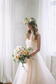 Blush pink wedding dress from Ivy & Aster at Alta Moda.  Image by Jacque Lynn
