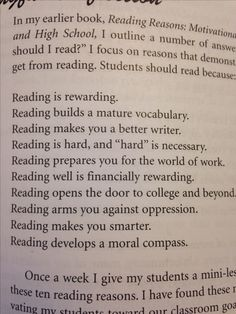 This would be a great poster - Deeper Reading by Kelly Gallagher