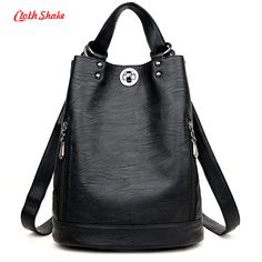 2017 New Fashion Women Backpack Female PU Leather Women's Bucket Backpacks Bag Travel Bags Back Pack Multi-purpose Shoulder Bags