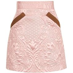 TopShop Quilted Pelmet Skirt (€50) ❤ liked on Polyvore featuring skirts, floral skirt, flower print skirt, floral print skirt, textured skirt and floral knee length skirt